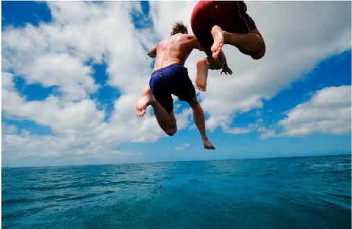 Höchster Sprung Ins Wasser